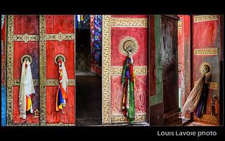 Triptyque portes de monastères au Zanskar