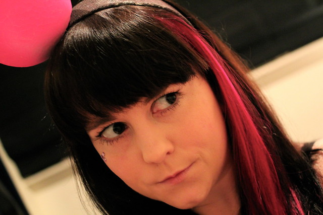 The polka dot matches my hair