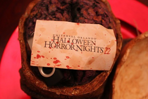 Halloween Horror Nights 22 media gift and invitation