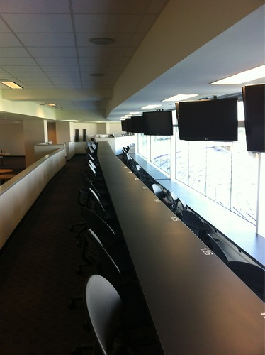 Press box. Will easily be one of the biggest and nicest in the Big 12