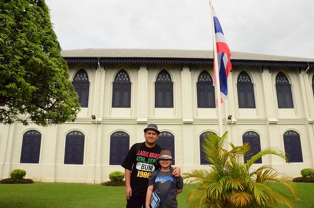 gabby & me at the entrance of grand palace, bangkok