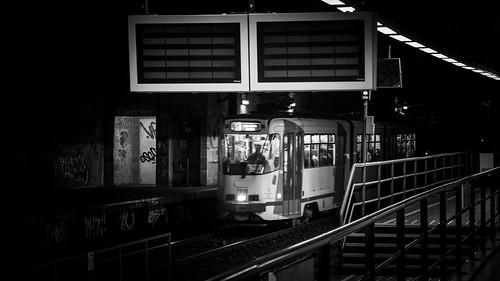 Like an Unstoppable Train in the Dark (RIP Tony Scott) - Station de Métro Albert, Bruxelles - Photo : Gilderic