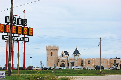 The classic sign and the new building