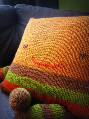 20120908. Squarey! First Christmas knitting.