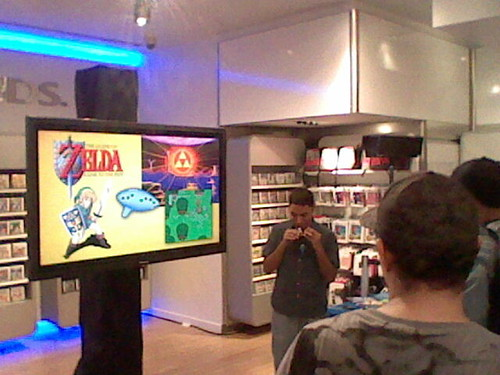 Ocarina Guy starts playing Zelda music!