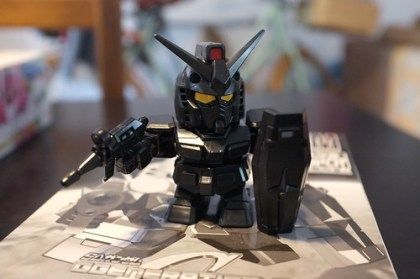 making the black SD RX-78