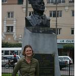 Jenn with JFK in Lima