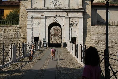 Entering the Castello