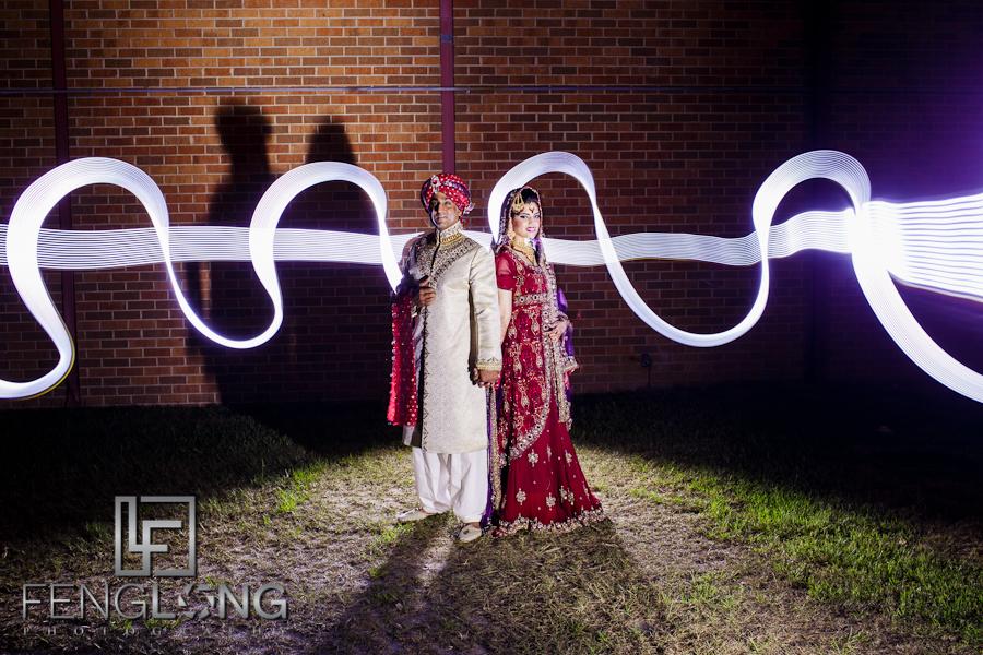 Wedding Light Painting | Yusra & Rahil's Baraat | Fort Gordon Officer's Club | Atlanta Augusta Pakistani Indian Wedding Photographer