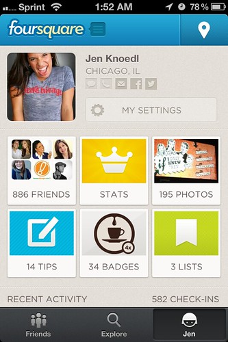 iphone travel app foursquare
