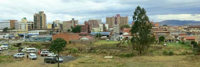 Not the prettiest view of Pietermaritzburg