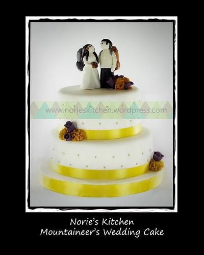 Norie's Kitchen - Mountaineer Wedding Cake by Norie's Kitchen