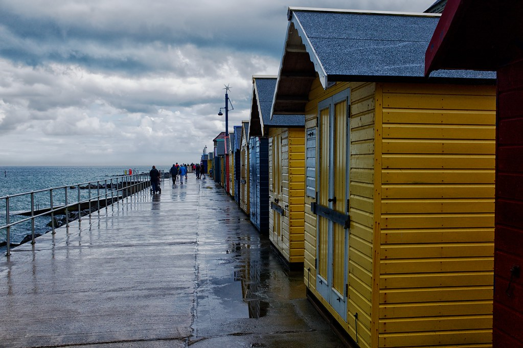 Beach huts at Sherringham