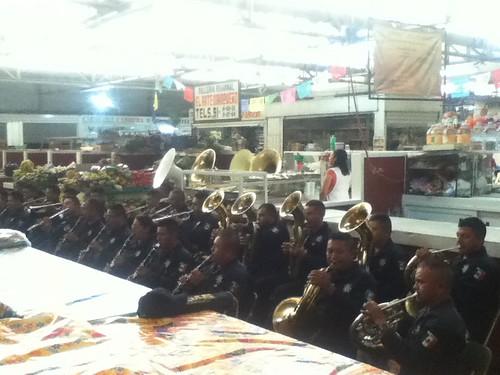 Oaxaca State's Police Band @ Mercado Sanchez Pascuas 09.2012