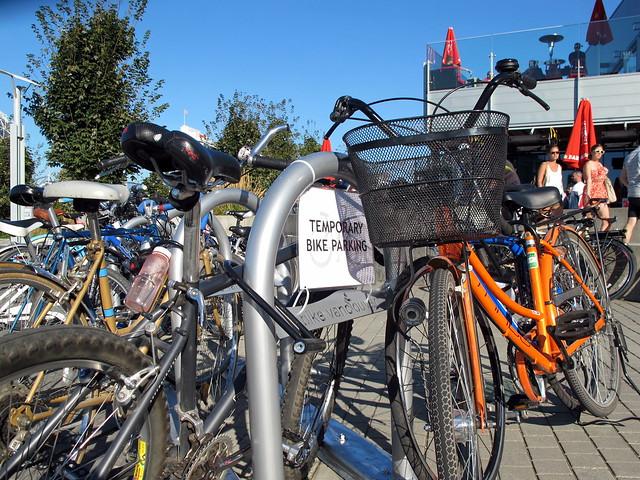 Temporary Bike Parking