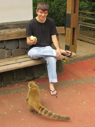 Richard and coati