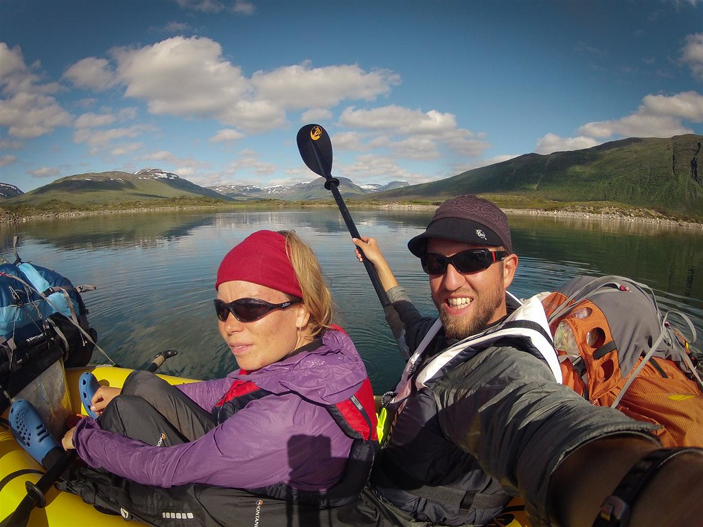 Packrafting the vast Altavatnet, Lappland, Norway