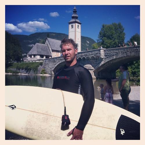 SharkSkin Wetsuit Surfing @ Lake Bohinj