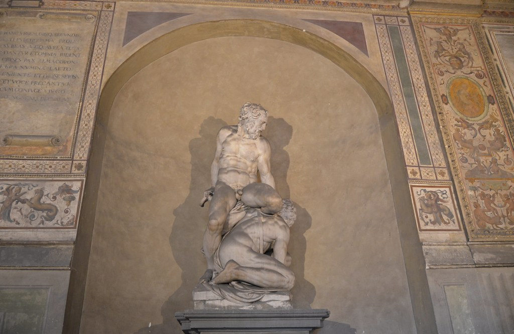 Samson Killing the Philistine, courtyard of Palazzo Vecchio