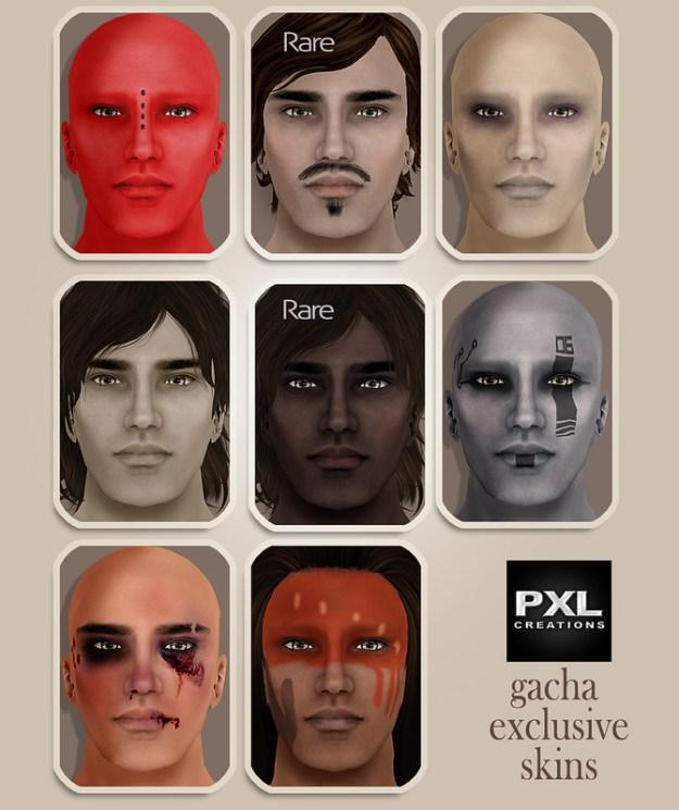 [PXL] Men Gacha skins