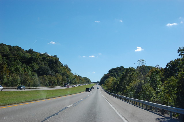 view of interstate through Kentucy