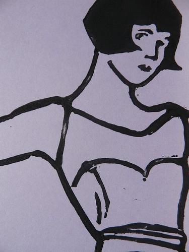 LouLou Linocut Print