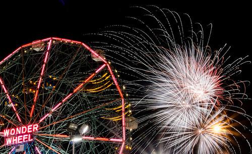 Coney Island - Fireworks Burst