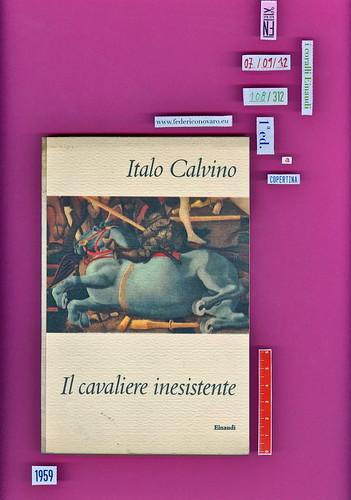 Italo Calvino, Il cavaliere inesistente. Einaudi 1959. i coralli 108. Copertina