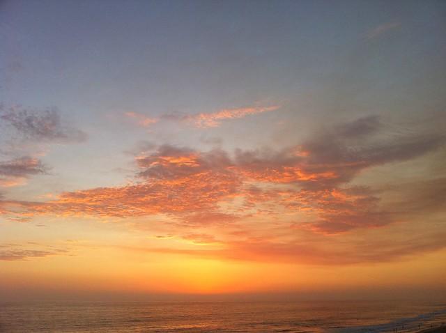 sunset flame