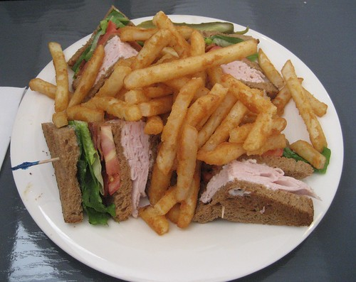 Turkey Club with Fries at Tom's Coney Island