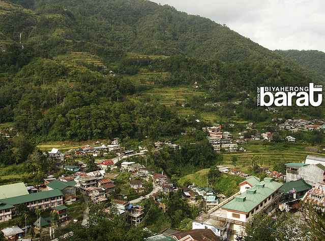 Sanafe Lodge (bottom corner right), Chappa Falls (top corner left) Banaue Ifugao