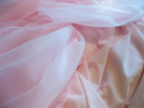 Ballet Pink Chiffon and Tissue Weight Jersey