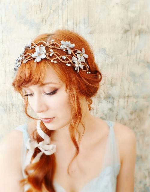 Flower Crown Blue Floral Headpiece Flickr Photo Sharing