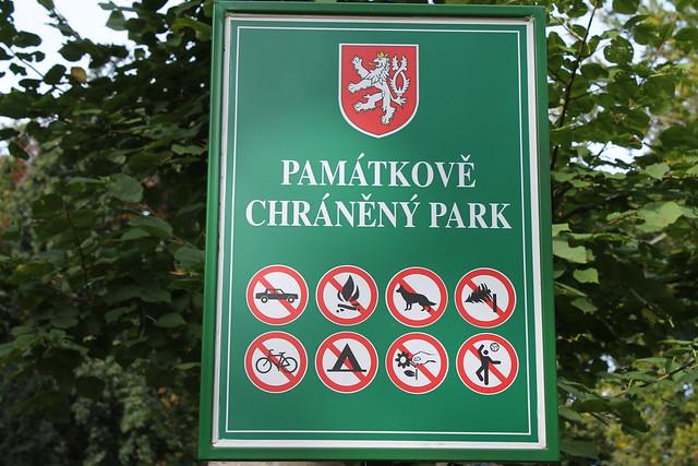 No driving, no campfires, no dogs, no tree cutting, no biking, no camping, no flower picking, no sports