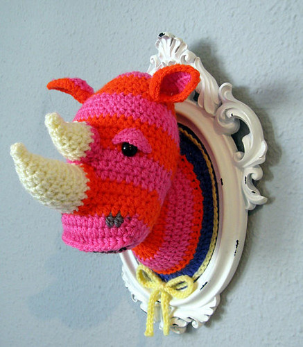 NOT MY WORK! Crochet Rhino by manafka mina