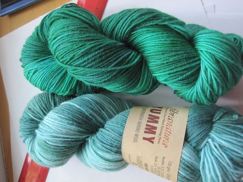 Skein 1 side by side before and after