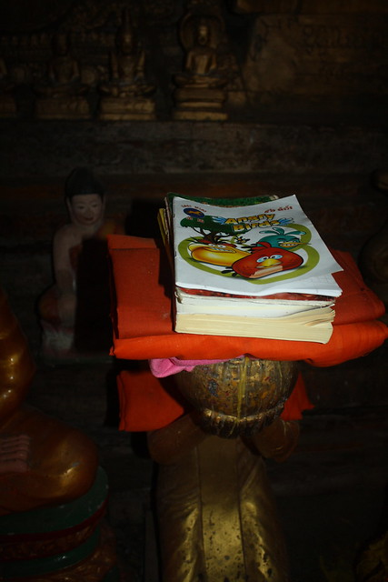 Angry Birds Offering to Buddha Cambodia