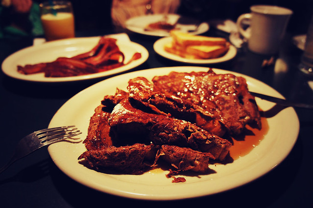 Awesome French toast at Mecca Cafe