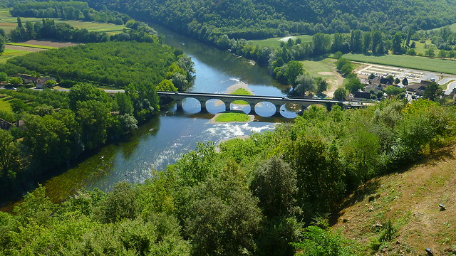 Castelnaud bridge over the Dordogne