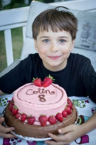 Colin and his cake