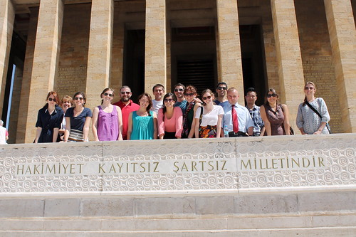 At Ataturk's tomb