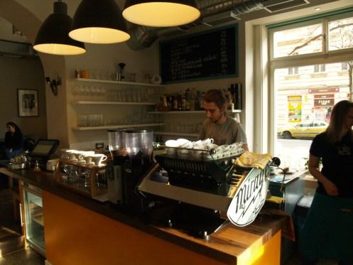 Brewing at the Prague Cafe