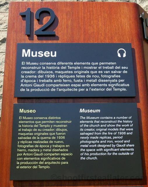Museum, Sagrada Familia