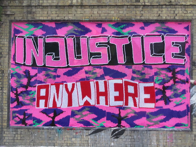 Olek - 'Injustice anywhere is a threat to justice everywhere'
