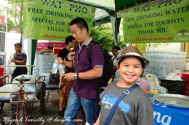 free water, wat pho