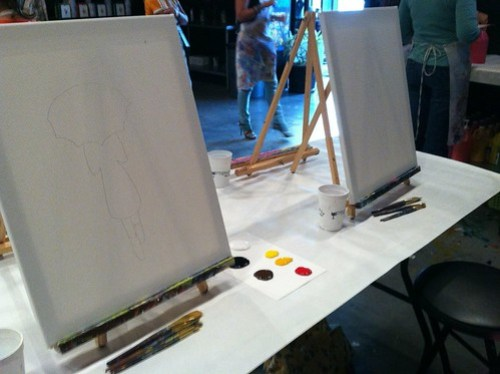 a beginning: painting with a friend