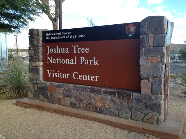 Joshua Tree National Park Visitor Cener sign