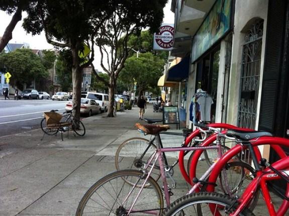 Outside Velo Rouge Cafe, San Francisco