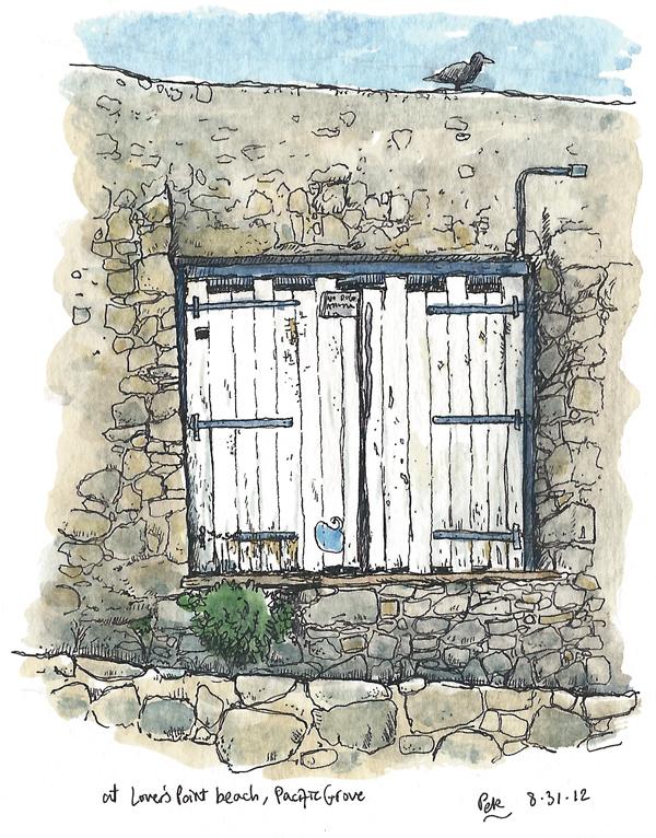 Pacific Grove Beach Door