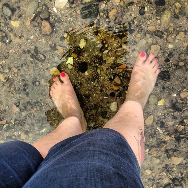 Toes in the ocean